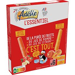 L'Essentiel - Bâtonnets glacés fraise banane & pêche abricot