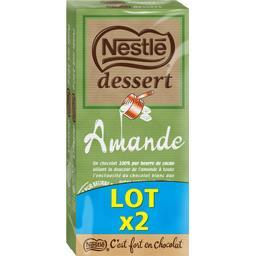 Dessert - Chocolat blanc amande