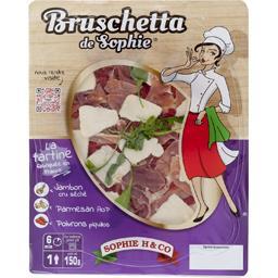 La Tartine aux parfums d'Italie jambon parmesan