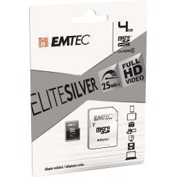 Carte mémoire micro SDHC 4GB Class4 Elite Silver