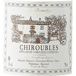 Chiroubles Domaine Cheysson vin Rouge 2016