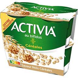 Danone Danone Activia - Spécialité laitière saveur noix céréale