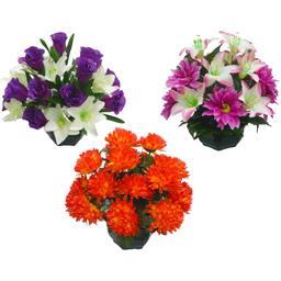 Fleurs en coupe coloris assortis