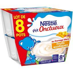Nestlé Nestlé Bébé P'tit Onctueux - Fromage blanc fruits exotiques, 8+ ...