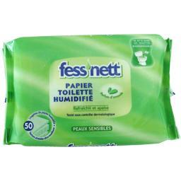 Lingettes papier toilette humidifié, peaux sensibles