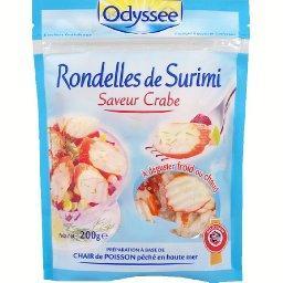 Rondelles de surimi saveur crabe