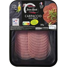 Jean Rozé Carpaccio pur bœuf huile d'olive et basilic la barquette de 200 g