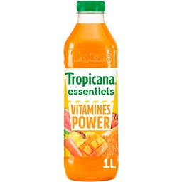 Tropicana Essentiels Jus de fruits et carotte Vitamines Power la brique de 1 l