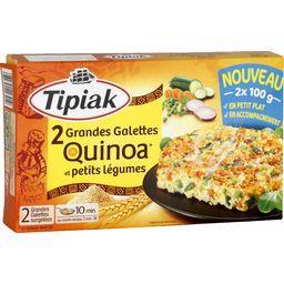 Grandes galettes quinoa et petits légumes