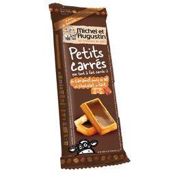 Petits carrés caramel pointe de sel & chocolat au lait