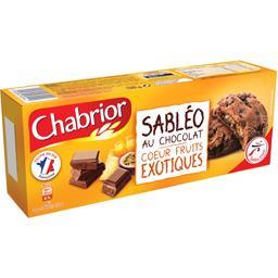 Chabrior Sabléo au chocolat cœur fruits exotiques le paquet de 9 - 100 g