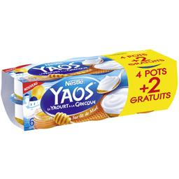 Nestlé Yaos - Le Yaourt à la grecque sur lit de miel les 4 pots de 125 g