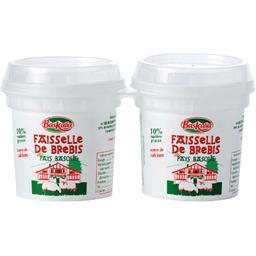 Baskalia Faisselle de brebis du Pays Basque les 2 pots de 100 g