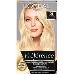 Préférence - Coloration blond très très clair nature...
