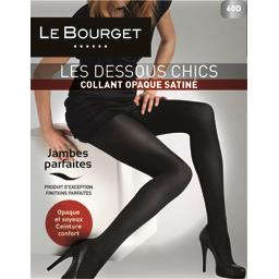 Collant opaque satiné noir t2