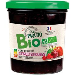 Confiture de 3 fruits rouges BIO