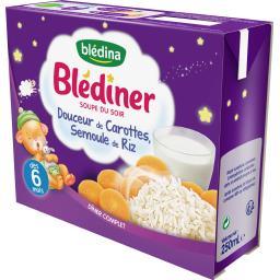 Blédîner - Soupe du soir Douceur de carottes semoule...