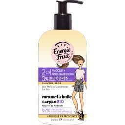 2en1 Masque+après-shampooing caramel et huile d'arga...