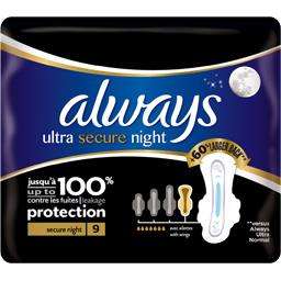 Serviettes hygiéniques Ultra Secure Night