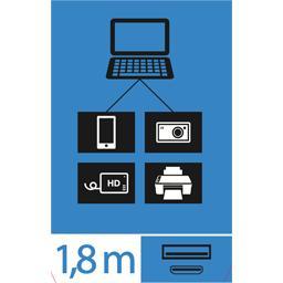 Câble USB 2,0 A/mini pour APN mâle/mâle