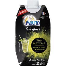 Paquito Thé glacé Matcha saveur fleur de sureau la brique de 33 cl