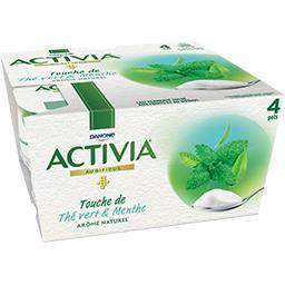 Activia - Lait fermenté Touche de thé vert & menthe