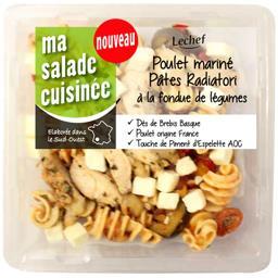 Poulet mariné pâtes Radiatori à la fondue de légumes