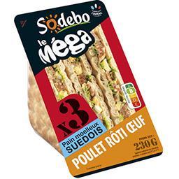 Le Méga - Sandwich poulet rôti œuf