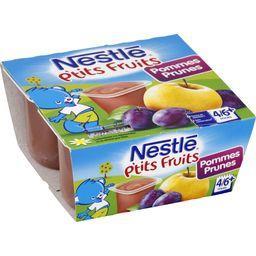 P'tits Fruits - Desserts pommes prunes, 4/6+ mois