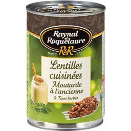 Lentilles cuisinées moutarde à l'ancienne & fines herbes