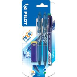 Stylo Frixion Ball Clicker bleu/Frixion Fineliner ve...