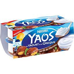 Yaos - Le Yaourt à la grecque sur lit de marrons