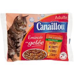 Emincés en gelée aux viandes pour chats