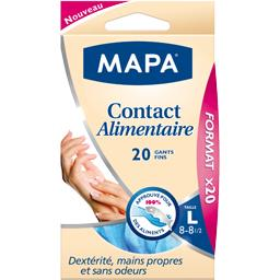 Gants contact alimentaire taille L