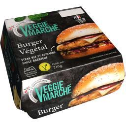 Veggie Marché Burger végétal sauce barbecue la boite de 210 g