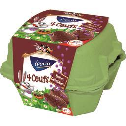 Ivoria Moulage chocolat au lait billes céréales croustillan... les 4 œufs de 25 g