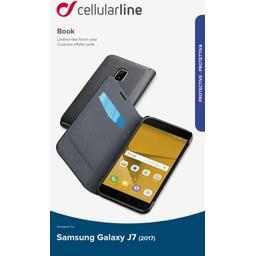 Etui rabat portefeuille noir pour Samsung Galaxy J7 2017