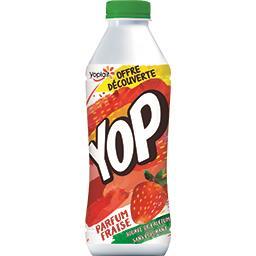 Yoplait Yop - Yaourt à boire parfum fraise la bouteille de 850 g - Offre Découverte