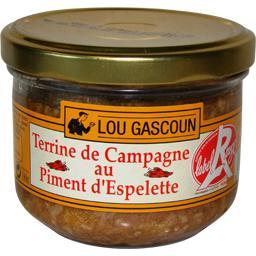Terrine de campagne au piment d'Espelette