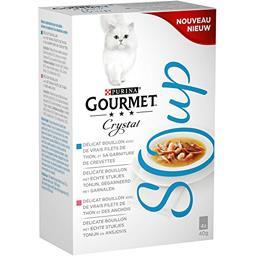 Purina Gourmet - Bouillon poissons Crystal Soup les 4 sachets de 40 g