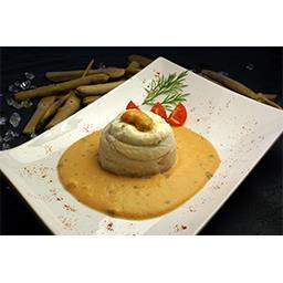 Turban de sole tropicale farcie sauce saveurs langoustines