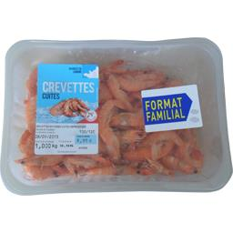 Crevettes entières cuites et réfrigérées, 100/120