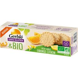 Sans Gluten & BIO - Petit sablé orange saveur citron BIO