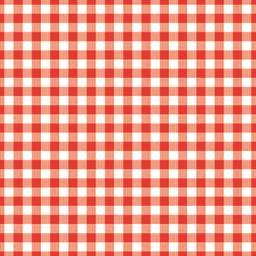 Serviettes 3 plis 33x33 cm rouge Vichy
