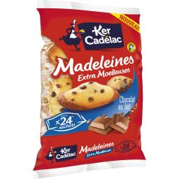 Madeleines extra moelleuses chocolat au lait