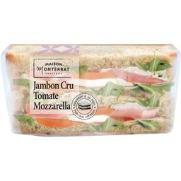Sandwich jambon cru tomate mozzarella