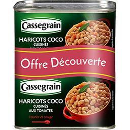 Cassegrain Haricots coco cuisinés aux tomates laurier et sauge