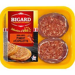 Roulades de porc au piment d'Espelette