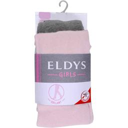 Collants coton uni gris chiné / rose enfant t6/8ans