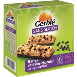 Sans Gluten - Barres de céréales chocolat au riz croustillant